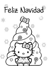 imagenes de navidad para colorear online dibujo para imprimir y colorear de feliz navidad hello kitty