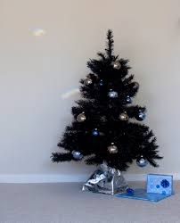 black artificial tree decor