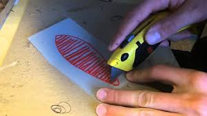 how to make a stencil for painting your homemade lure youtube