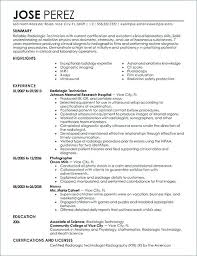 the best resume exles best resume objectives best radiology technician resume exle