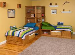 Bedroom Bed In Corner Corner Cubby Bed Available In Maple Or Oak Twin Size Shown With