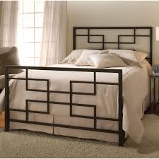 Modern Iron Bed Soho Modern Metal Bed In Brushed Nickel Humble