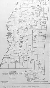 Ms Map History Of Vaiden Mississippi
