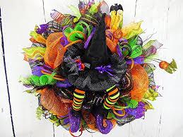 amazon com wicked witch wreath witch wreath witch hat wreath