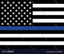 Design Of American Flag Police Law Enforcement American Flag Royalty Free Vector
