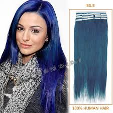 blue hair extensions 18 inch blue in human hair extensions 20pcs hairstyles