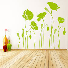 Poppy Home Decor by Wall Stickers Poppy Flowers Color The Walls Of Your House