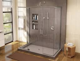 Bathroom Shower Pans Bathroom Tileable Shower Base Design Ideas With Wooden Wall Also