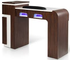 manicure table with built in led light manicure tables vented exhaust glasss top nail tables