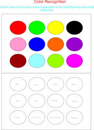 color recognition worksheets for preschoolers working with