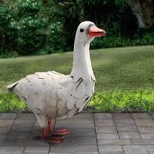 national tree co garden goose statue reviews wayfair