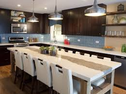 Kitchen Island Seating Kitchen Rectangular Kitchen Island With Seating Of White Chairs