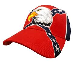 Bald Eagle On Flag Bald Eagle Confederate Flag Adjustable Hat