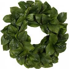 magnolia leaf wreath 26 artificial magnolia leaf wreath realistic green 2833020gr