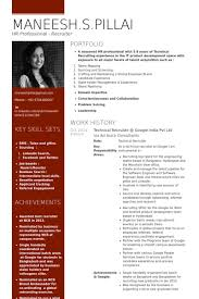 Hr Professional Resume Sample by Google Resume Samples Visualcv Resume Samples Database