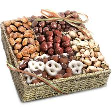 nuts gift basket organic chocolate and nuts gift basket