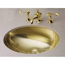 shop kohler rhythm mirror french gold stainless steel undermount