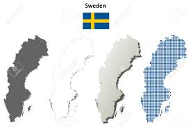 Map Sweden Sweden Outline Map Set Royalty Free Cliparts Vectors And Stock
