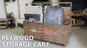 how to make a plywood storage cart to organize your garage youtube