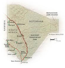 africa map kalahari desert map of the kgalagadi transfrontier park south africa expert africa
