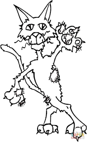 ugly cat coloring page free printable coloring pages