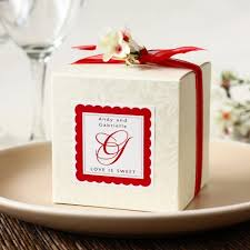 personalized favor boxes embossed square favor boxes