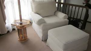 Chair With Matching Ottoman Beige White Stewart Chair W Matching Ottoman For