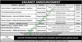 journalists jobs in pakistan airport security pakturk international schools colleges quetta jobs 2017 jobs