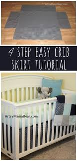 Baby Crib Bed Skirt The Tutorial For This Crib Skirt It Is Adjustable So It Will