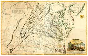 Virginia Colony Map by Fry Jefferson Map Of Virginia 1755 Battlemaps Us