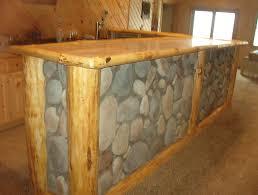 Rustic Bars Rustic Log Framed Stone Fraced Bar
