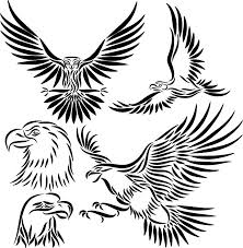 very nice tribal eagle tattoo design clip art library