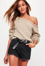 shoulder cropped sweater missguided