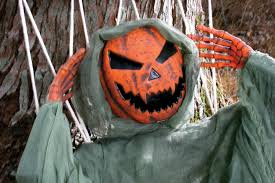posable lazy bones pumpkin prop with hammock 354491