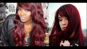 chocolate cherry hair color with blonde highlights suggested
