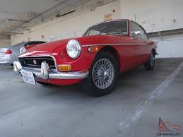 mgb gt original color new paint ca car 4 speed manual wire wheels