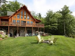 luxury log cabin best views of mt washin vrbo