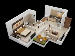 one bedroom floor plans apartment one bedroom apartment 3d floor plan with small balcony and