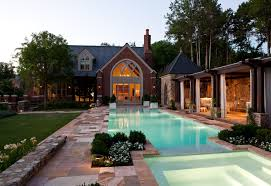 pool house decorating ideas great level slope house has deck over