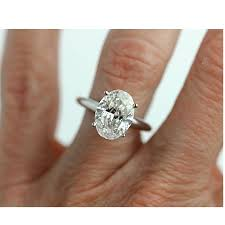 oval cut diamond enhanced 2 30 carat oval engagement ring