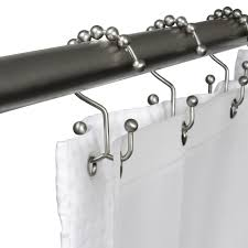 2 5 Inch Curtain Rings by Amazon Com Maytex Metal Double Glide Shower Ring Brushed Nickel