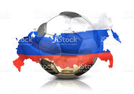 russia football map silver golden soccer football russia russian map isolated 3d