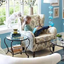 Living Room Bonus - claudio wing chair blue jacobean pier1 com living room ideas