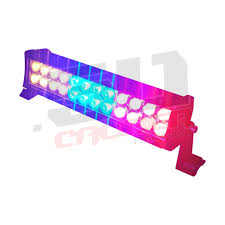 Red Led Light Bars by Multicolor Flashing 12 Inch Led Light Bar With Wireless Remote For