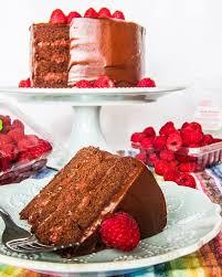 dark chocolate cake with raspberry filling u2022 amy lyons