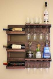wall mounted wine rack with glass holder foter