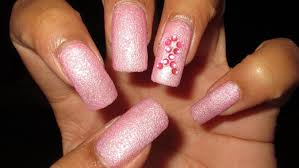 breast cancer pink rhinestone ribbon nail art tutorial youtube