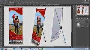 cara membuat desain x banner di photoshop cara desain x banner wedding dengan photoshop youtube