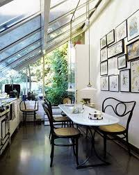 interior enchanting small sunrooms decoration using curved black
