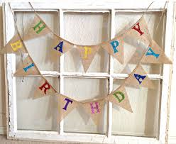 birthday banner burlap birthday banner birthday bunting
